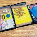 子どもの細かいおもちゃの収納の困ったを解決するセリアのファスナーケース