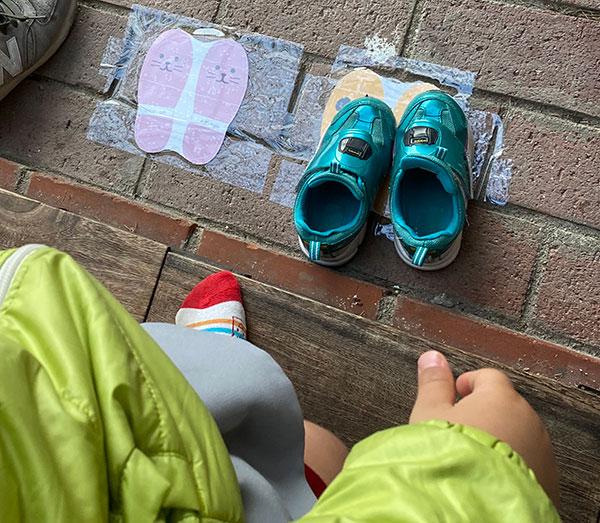 靴おきマーク手作り