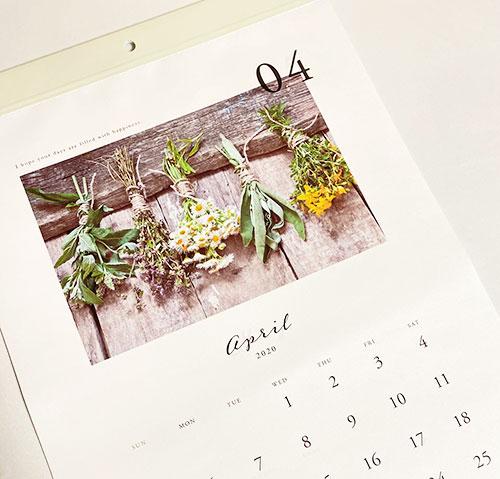 4月始まりカレンダー